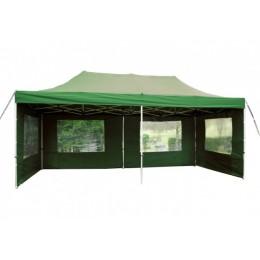 Zelený nůžkový párty stan 3x6 metru