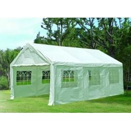 Zahradní párty stan bílý 4x6 metru s ocelovou konstrukcí